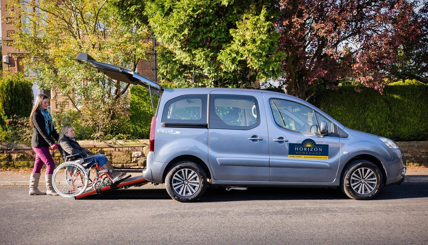 Horizon Homecare escort vehicle